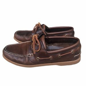Brooks Brothers Brown Leather boat Shoes